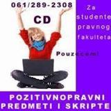 ZA STUDENTE PRAVNOG FAKULTETA PREDMETI na CD