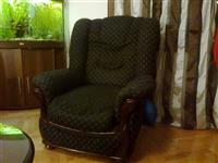 Garnitura sa trosed, dvosed i fotelju
