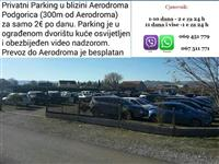 Privatni parking aerodrom Podgorica