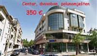 Centar : Polunamješten dvosoban za 350 €