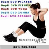 Dvd aerobik, dvd zumba, dvd pilates i joga