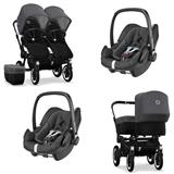 Bugaboo Donkey 2 Twin Crna 2x Pebble Plus Travel S
